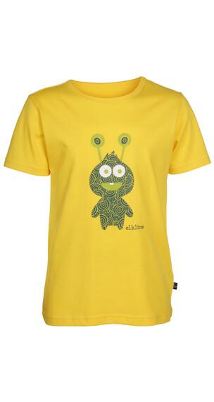 Elkline Marsmonster shirt Kinderen geel